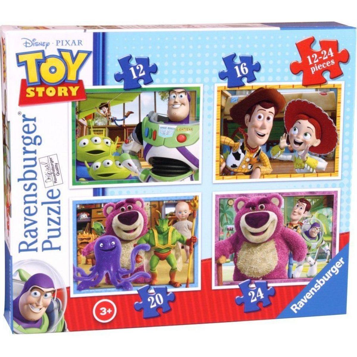 Ravensburger puzzle Toy Story příběh hraček 4v1