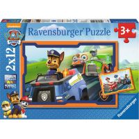 Ravensburger puzzle Tlapková Patrola v nasazení 2 x 12 dílků