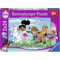 Ravensburger puzzle Nella princezna rytířů 2 x 24 dílků