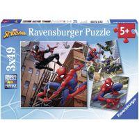 Ravensburger puzzle Spiderman v akci 3 x 49 dílků