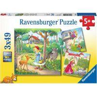 Ravensburger puzzle Malá červená karkulka 3 x 49 dílků