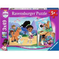 Ravensburger puzzle Nella princezna rytířů 3 x 49 dílků