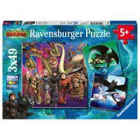 Ravensburger puzzle Jak vycvičit draka III. 3 x 49 dílků