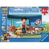 Ravensburger puzzle Tlapková patrola Dobrý skutek 2 x 24 dílků