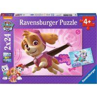 Ravensburger puzzle Tlapková Patrola 2 x 24 dílků