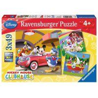 Ravensburger Puzzle Mickeyho Klubík 3 x 49 dílků