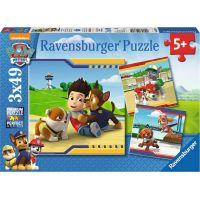 Ravensburger puzzle Tlapková Patrola Chlupatí hrdinové 3 x 49 dílků