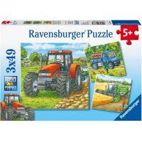 Ravensburger Puzzle Stroje v zemědělství 3 x 49 dílků
