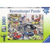 Ravensburger puzzle Policie na hlídce 100 XXL dílků