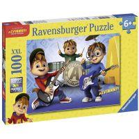 Ravensburger Puzzle Alvin, Simon,Theodore 100 XXL dílků