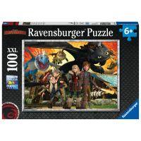 Ravensburger puzzle Jak vycvičit draka Dračí přátelé 100 dílků