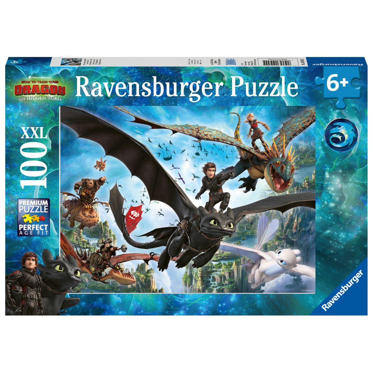 Ravensburger puzzle Jak vycvičit draka III. 100 dílků