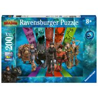 Ravensburger puzzle Jak vycvičit draka 3 Dračí jezdci 200 dílků