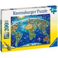 Ravensburger Puzzle Velká mapa světa 200 XXL dílků