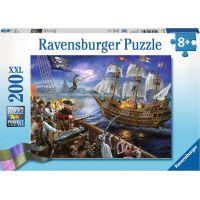 Ravensburger puzzle Černovousova bitva 200 XXL dílků