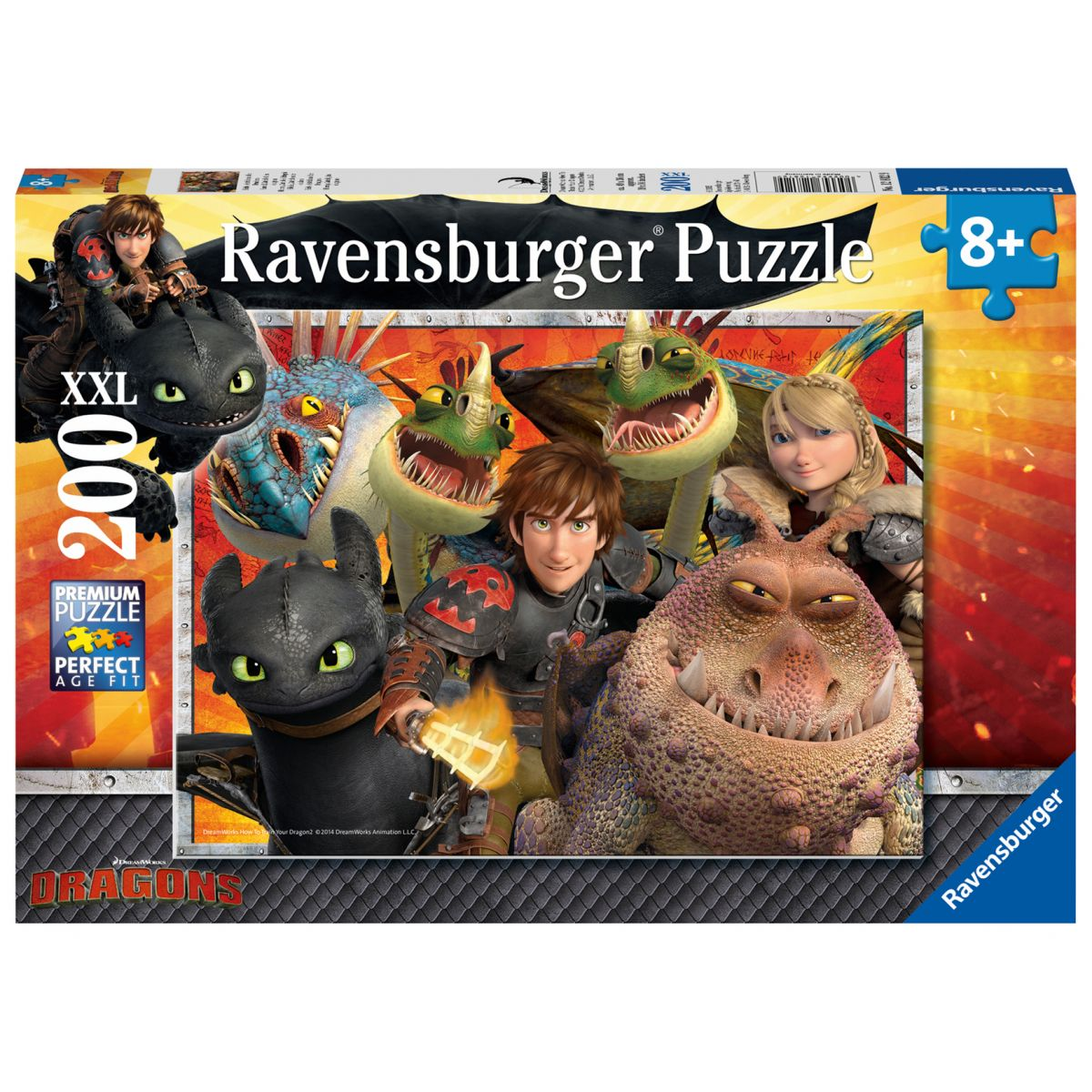 Ravensburger puzzle Jak vycvičit draka Škyťák, Astrid a draci 200 dílků