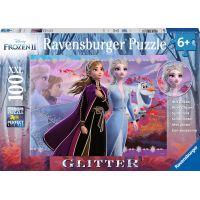 Ravensburger puzzle Disney Ledové království II 100 dílků Třpytivé puzzle