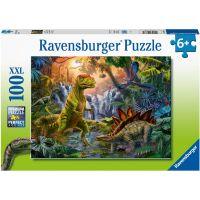 Ravensburger puzzle V říši dinosaurů 100 XXL dílků