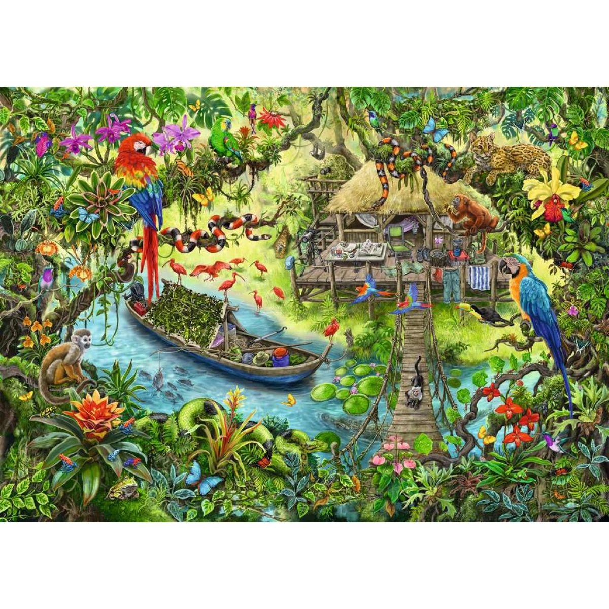 Ravensburger puzzle 129249 Exit Kids Puzzle Džungle 368 dielikov