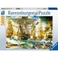 Ravensburger puzzle Velká lodní bitva 5000 dílků