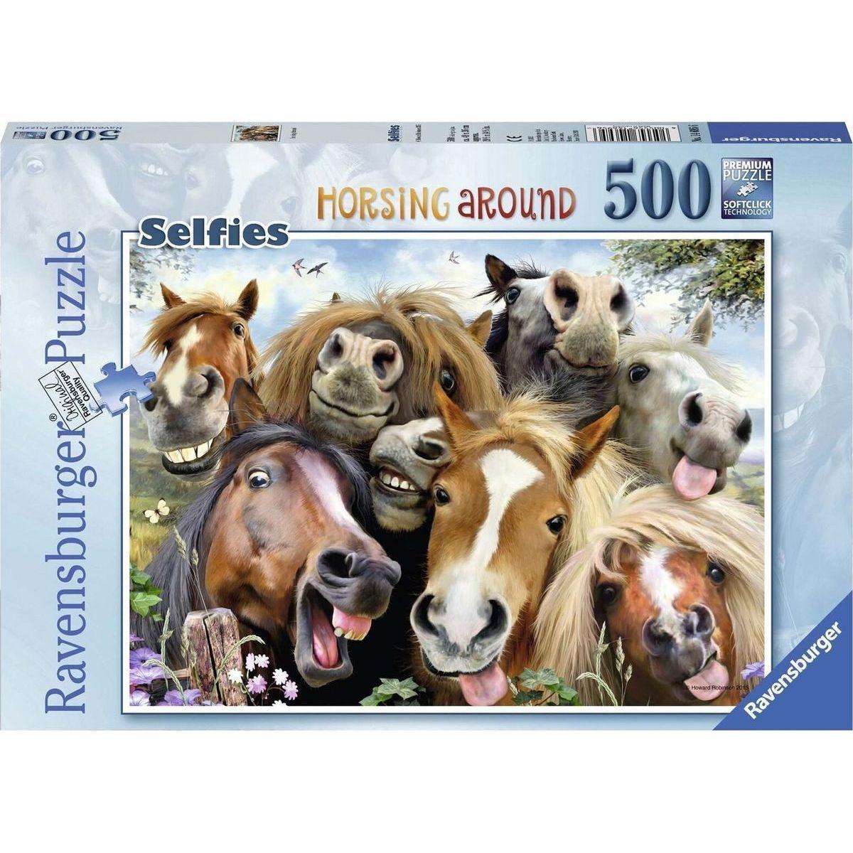 Ravensburger puzzle S koňmi 500 dílků