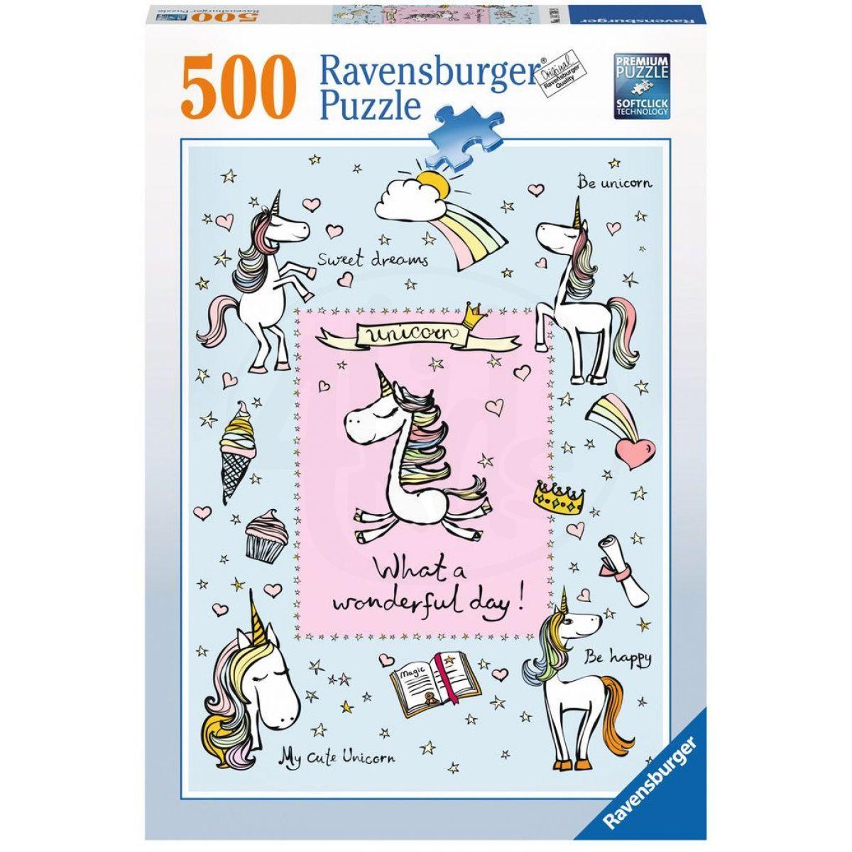 Ravensburger Puzzle Láska jednorožců 500 dílků
