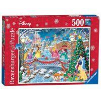 Ravensburger Puzzle Disney Princezny: vánoční oslava 500 dílků