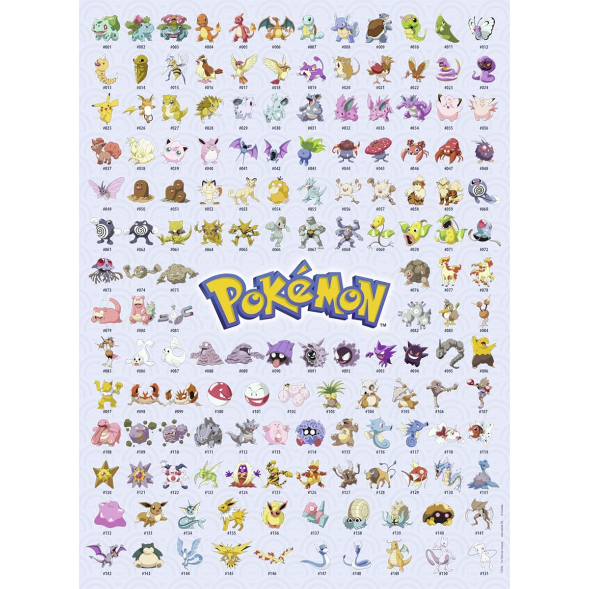 Ravensburger Puzzle Prvních 151 Pokémonů 500 dílků
