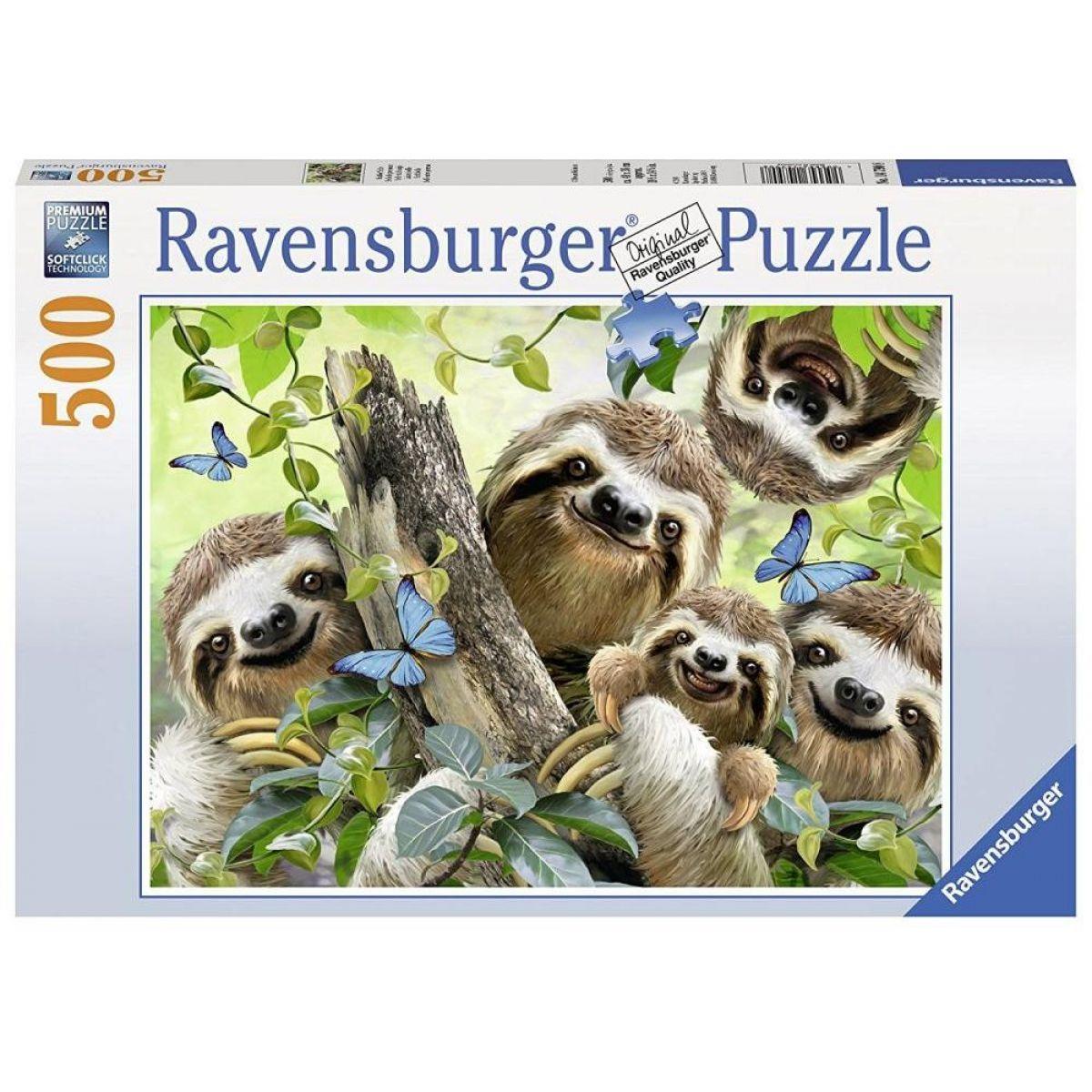 Ravensburger Puzzle Selfie lenochoda 500 dílků