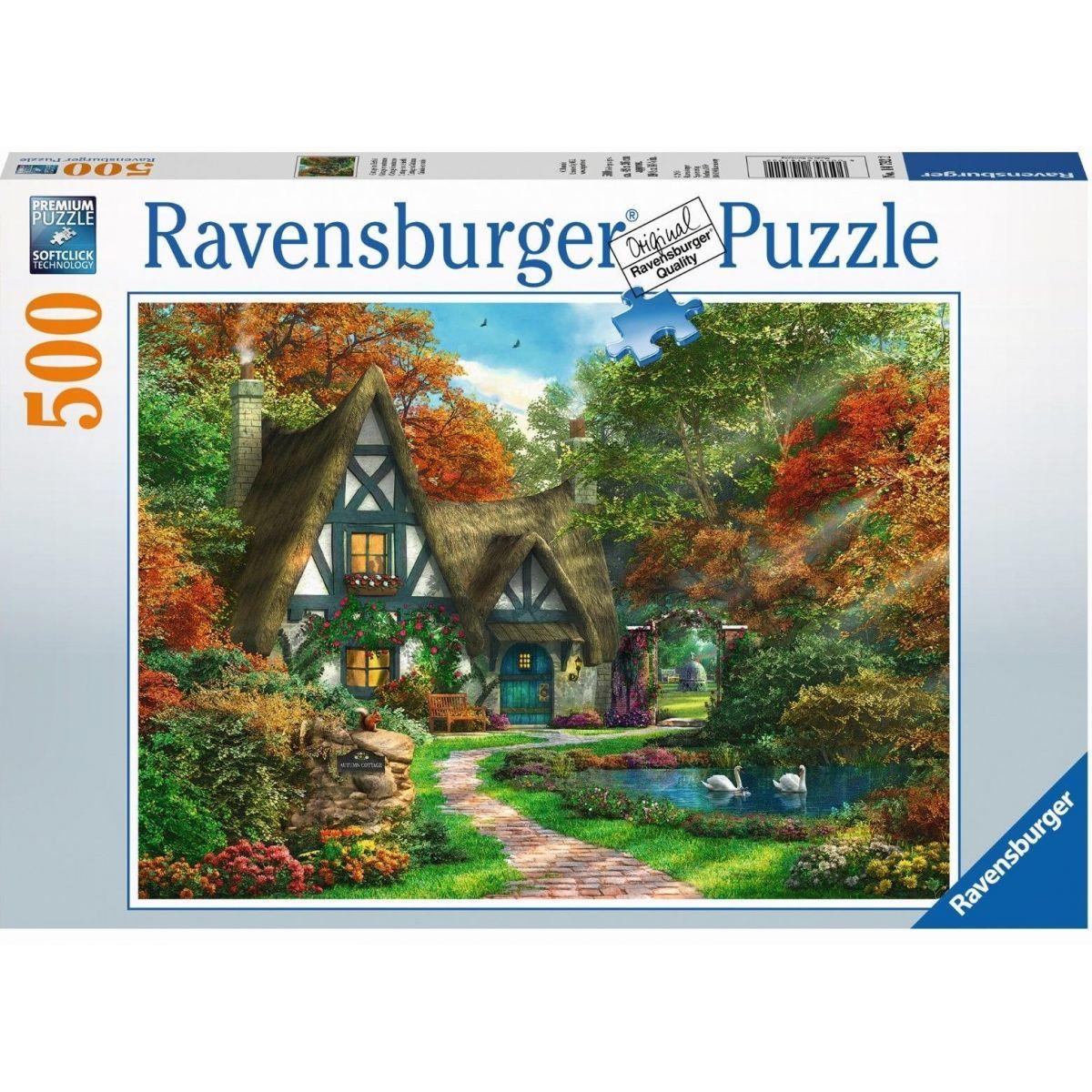Ravensburger Puzzle Chalupa na podzim 500 dílků