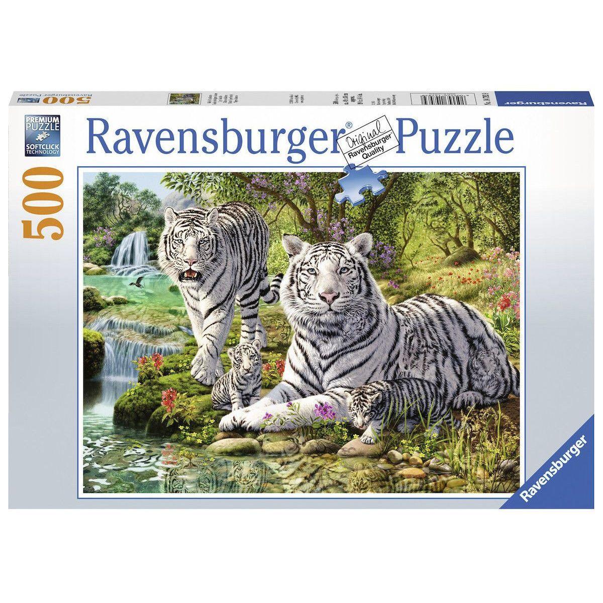Ravensburger Puzzle Bílé kočky loupežnice 500 dílků