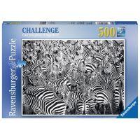 Ravensburger Puzzle 148073 Výzva pro zebru 500 dílků