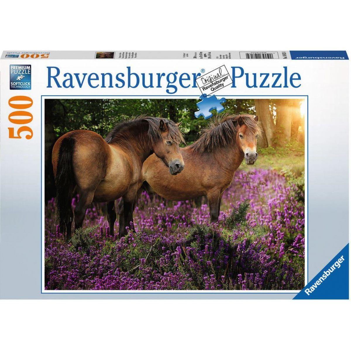 Ravensburger puzzle Poníci mezi květinami 500 dílků