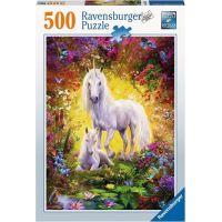 Ravensburger puzzle Jednorožec s mládětem 500 dílků