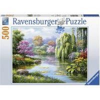 Ravensburger puzzle Pohled na jezero 500 dílků