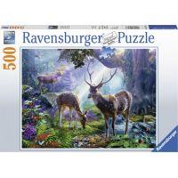 Ravensburger puzzle Jeleni v lese 500 dílků
