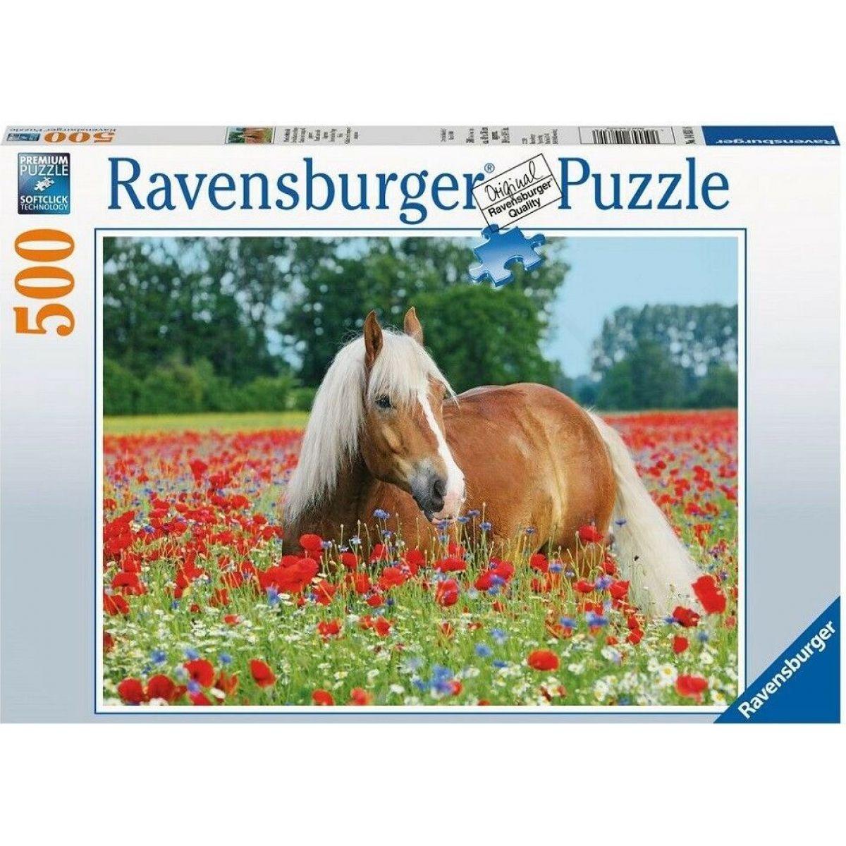 Ravensburger puzzle Koně 500 dílků