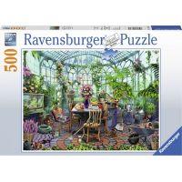 Ravensburger puzzle Ráno ve skleníku 500 dílků