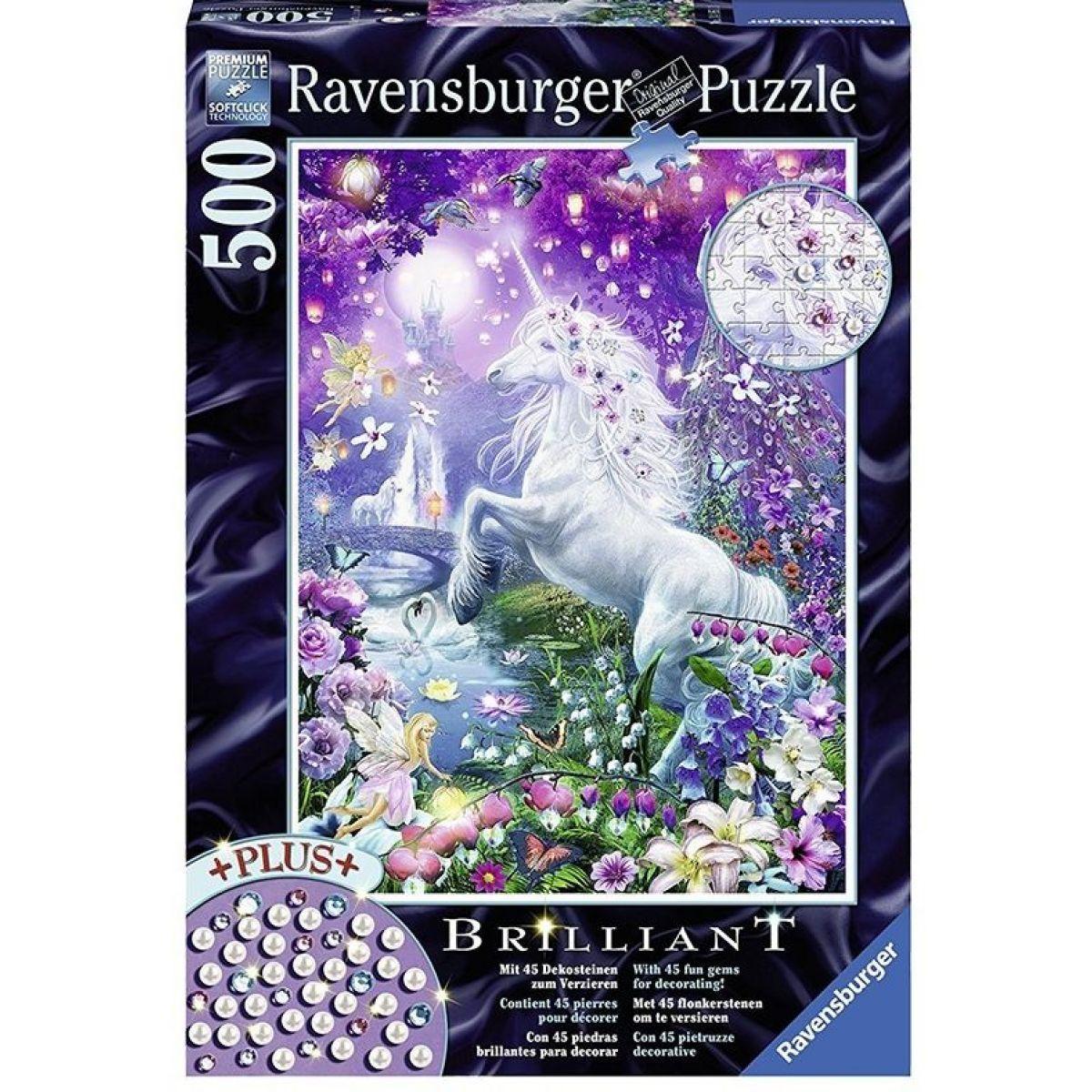 Ravensburger Puzzle Jednorožec ve třpytivém lese 500 dílků