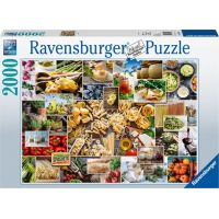 Ravensburger puzzle Koláž s jídlem 2000 dílků
