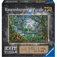 Ravensburger puzzle Exit Puzzle Jednorožec 759 dílků