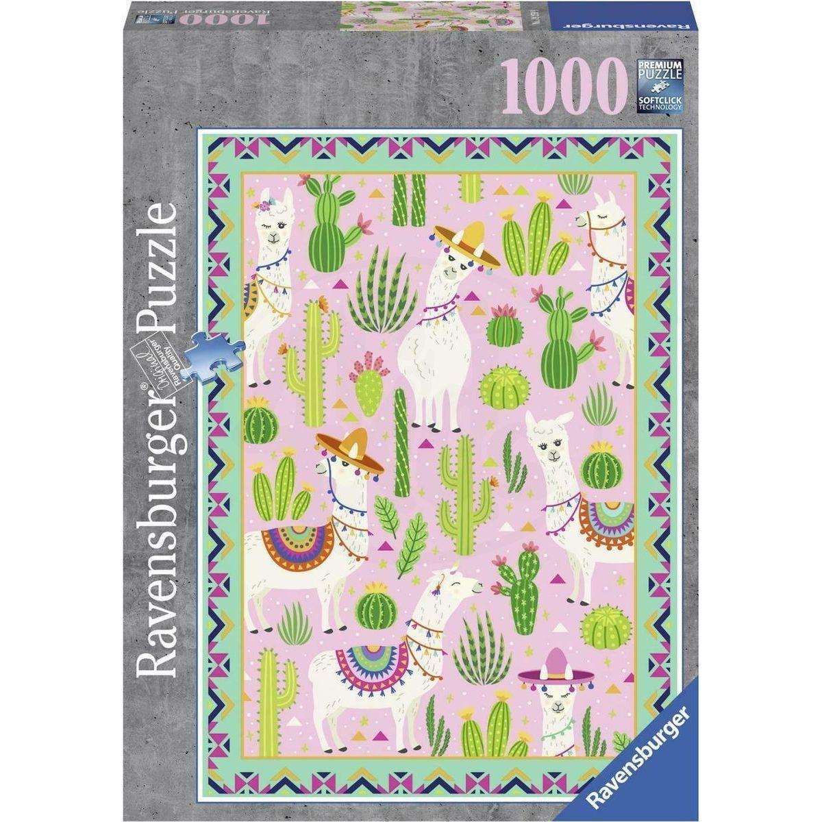 Ravensburger puzzle Lama Alpaca 1000 dílků