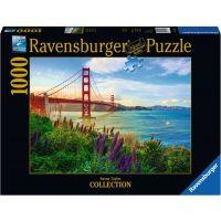 Ravensburger puzzle Západ slunce u Golden Gate 1000 dílků