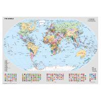 Ravensburger Puzzle Politická mapa sveta s vlajkami 1000 dielikov