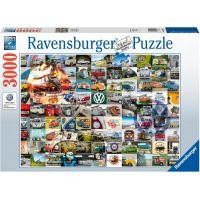 Ravensburger puzzle 99 VW Bulli momentů 3000 dílků