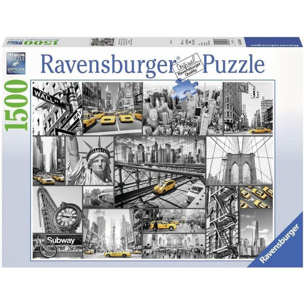 Ravensburger Puzzle New York taxi 1500 dílků