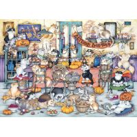 Ravensburger puzzle 165094 Bláznivé mačky, jesenné hostina 1000 dielikov