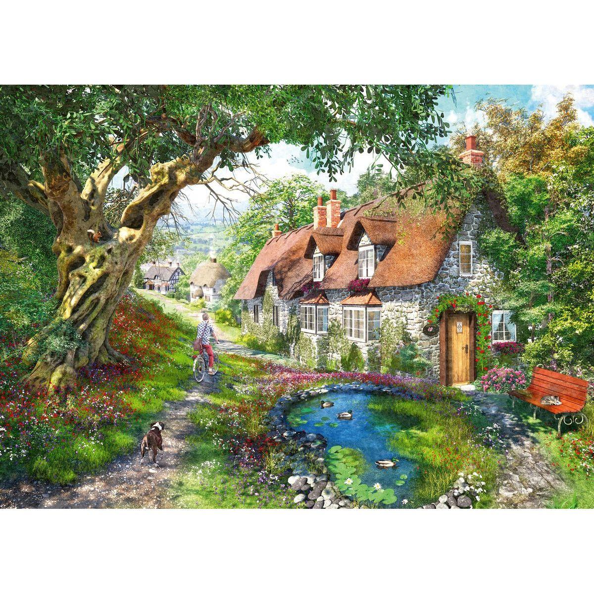 Ravensburger Puzzle Květinový kopec 1000 dílků