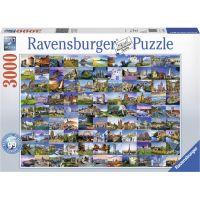 Ravensburger puzzle  99 krásná místa 3000 dílků