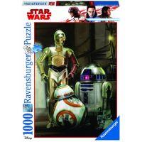 Ravensburger Puzzle Disney Star Wars: C 3PO, R2 D2 & BB 8 1000 dílků